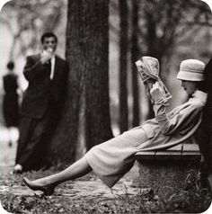 Central Park, New York Photo by Yale Joel, 1957 art fashion black and white photography