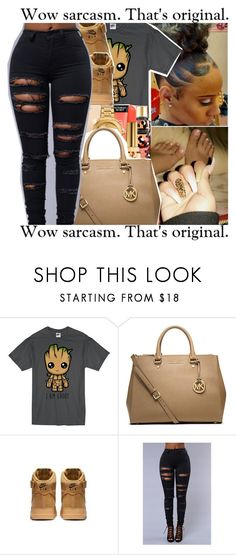 """Untitled #832"" by issaxmonea ❤ liked on Polyvore featuring Michael Kors and NIKE"