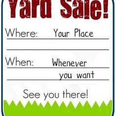 Printable Yard Sale Sign {Free Printable Sign}