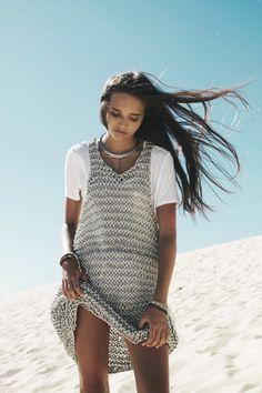 knit tank dress over tee