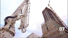 Hormigonado récord en la Torre Central (Del complejo GARDEN CENTRAL TOWERS en Neuquén Capital)