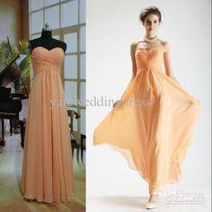 Wholesale 2012 custom made cheap strapless ruffle dressy replica chiffon bridesmaid dress/party dress OP01, Free shipping, $71.01/Piece | DHgate