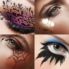 Makeup Clown, Eye Makeup Art, Costume Makeup, Makeup Tips, Ursula Makeup, Doll Makeup, Fairy Makeup, Mermaid Makeup, Prom Makeup