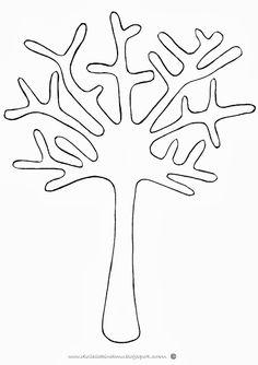 Jesienne drzewa ze skorupek po jajkach