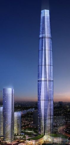 Xiaobailou Union Plaza,Tianjin, China by Pelli Clarke Pelli Architects :: 82 floors, height 400m