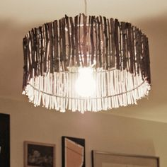 Sticks and stones may break bones, but they also make for some gorgeous lampshades!!