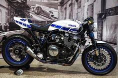 Yamaha Klein from Dillingen / Saar sends an XJR 1300 trimmed to Muscle Racer . Yamaha Xjr 1300, Motos Yamaha, Yamaha Motorcycles, Cafe Racer Motorcycle, Motorcycle Outfit, Custom Motorcycles, Custom Bikes, Ducati, Women Motorcycle