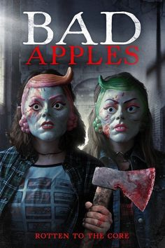 """Watch Bad Apples full hd online Directed by Bryan Coyne. With Brea Grant, Graham Skipper, Alycia Lourim, Heather Vaughn. It's Halloween night, and two """"bad apples"""" decide to play so Imdb Movies, 2018 Movies, Best Horror Movies, Scary Movies, Horror Films, Terror Movies, Streaming Vf, Streaming Movies, Rotten To The Core"""