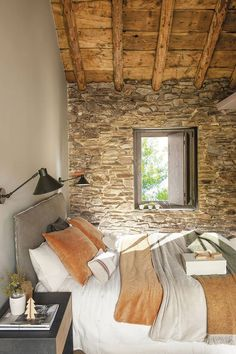 〚 Very beautiful mountain home made of wood and stone in Spain 〛 ◾ Photos ◾ Ideas ◾ Design #bedroom #stone #rustic #warm #natural #interiordesign #homedecor #ideas #inspiration #cozy #Living #space #style #interior #decor #home #design Architecture Design, Spanish Interior, Glass Partition, Rustic Cottage, Made Of Wood, Decor Interior Design, Design Bedroom, Modern Decor, Decoration