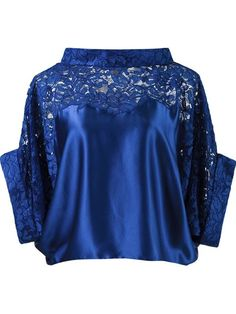 a9bfb070de2f49 Shop Martha Medeiros lace panel crop blouse in Destination Brazil from the  world's best independent boutiques