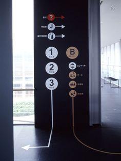 床と壁の連続サイン
