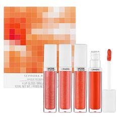I got the Sephora x Pantone lip gloss collection yesterday :)
