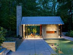 Nevis Pool and Garden Pavilion / Robert M. Gurney Architect I want a pool house! Oh yeah, gotta have the pool Garden Pavillion, Backyard Pavilion, Outdoor Pavilion, Backyard Barn, Pool Backyard, Backyard Retreat, Outdoor Spaces, Outdoor Living, Outdoor Pool