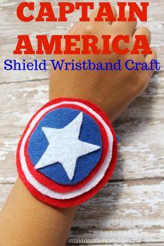 Captain America Shield Wristband craft - so easy!