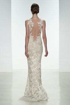 THE BACK OF THIS GOWN IS TO DIE FOR! Meet Nicole, gorgeous Amsale gown and you can find her now at http://ellebridalboutique.com XOXO