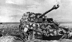 German Ferdinand destroyed by artillery fire