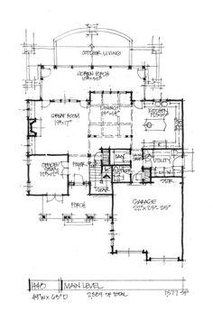 CONCEPTUAL HOME DESIGN 1448: NARROW-LOT -... | House plans ...