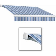 Key West-LX Full-Cassette Manual Retractable Awning, Multicolor