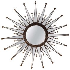 Starburst Mirror | From a unique collection of antique and modern sunburst mirrors at http://www.1stdibs.com/furniture/mirrors/sunburst-mirrors/