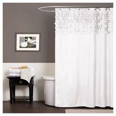 Lillian Circle Ruffle Shower Curtain : Target
