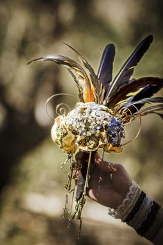 Bouquet with feathers!