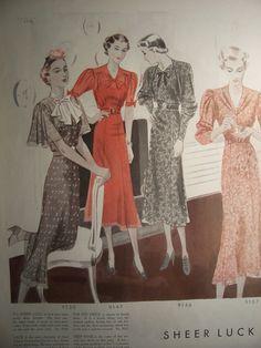 1937 MCCALLS FASHION PATTERNS /1930s Pattern by PapersAndMore, $10.00