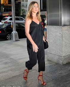 Dinner date: Jennifer Aniston and husband Justin Theroux enjoyed a dinner date on Sunday i...