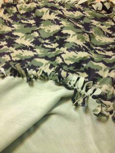 Camo tie blanket.. DIY fleece blanket