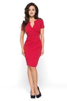 KARTES MODA šaty dámské KM56 s obálkovým výstřihem 48616c14fe