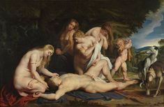 Venus Mourning Adonis (not in Dulwich Picture Gallery), complete work associated with Dulwich sketch