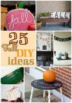 25 Fall DIY Ideas!! -- Tatertots and Jello