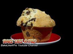▶ JUMBO Chocolate Chip Muffins Recipe - YouTube