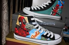#Anime Custom Sneakers Anime Hand Painted Shoes
