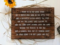 When you order a hand lettered medium custom wood sign from The Crafty Splinter, suddenly you have a perfectly sized custom piece that matches your current decor styles AND portrays a message unique to YOU! Perfect for home decor, weddings or gifts.