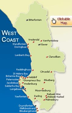 west coast map south africa - Google Search Cary Bradshaw, Heart Place, St Helena, African Countries, Afrikaans, Far Away, West Coast, South Africa, Maps