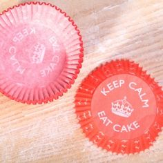 Baking Cups 'Keep Calm Eat Cake'