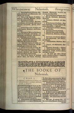 Nehemiah Chapter 1 Original 1611 Bible Scan, courtesy of Rare Book and Manuscript Library, University of Pennsylvania
