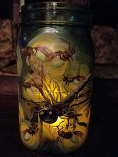 """""""Summer Nights"""", mason jar candle holder by Kim Cesaretti"""