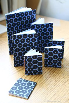 "Blue Dot Handmade Books by Ruth Bleakley - and a challenge to do bookbinding ""just for fun"""
