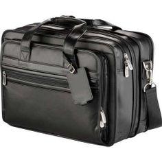 "Kenneth Cole Manhattan Leather Compu-Attache, 16"" Laptop Bag 25% OFF Retail #KennethColeReaction #BriefcaseAttache"