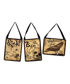 Take a look at this Spooky Countdown Wall Hanging Set by Primitives by Kathy on #zulily today!