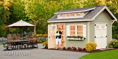 Craftsman Shed options at Weaver Barns are some of the best in the USA. Learn more about our Craftsman shed barn style options today. Cheap Tiny House, Tiny House Blog, Shed To Tiny House, Tiny Houses For Sale, Cheap Storage Sheds, Diy Storage Shed, Cheap Sheds, Craftsman Sheds, Craftsman Style