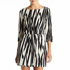 MNG by Mango® Abstract-Print ¾-Sleeve Dress - jcpenney