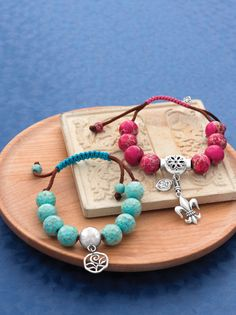 Add a pop of color to your wardrobe with these fun and fashionable bracelets.