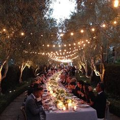 Some enchanted evening... dinner under the stars at a wedding in Santa Barbara. #brikewedding2015