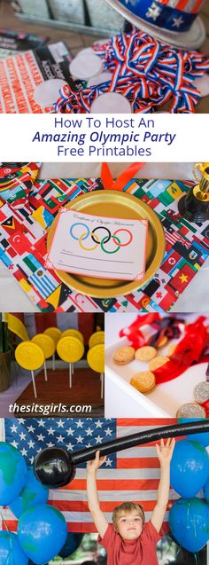 To Throw An Amazing Olympic Party Everything you need to throw the best Olympic party! Includes free printables and Olympic party games, decor, dessert bar, and other ideas to make your party a gold medal winner! Beer Olympics Party, Senior Olympics, Office Olympics, Kids Olympics, Special Olympics, Winter Olympics, Camping Party Games, Camping Parties, Olympic Idea