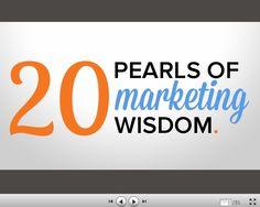 20 Pearls of Marketing Wisdom