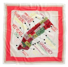 Madewell scarf w/ a map of NYC!