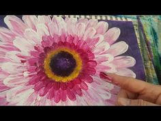Easy Beginner FLOWER Finger Painting Acrylic Tutorial LIVE #angelooney - YouTube