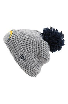 Men's Cincinnati Bengals New Era Black Rib Start Cuffed Knit Hat